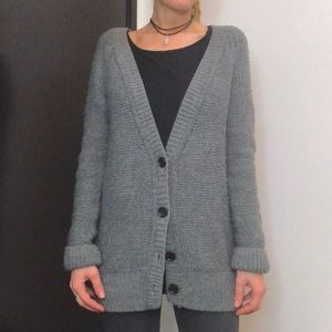 Talula Gray Wool Button Down Cardigan